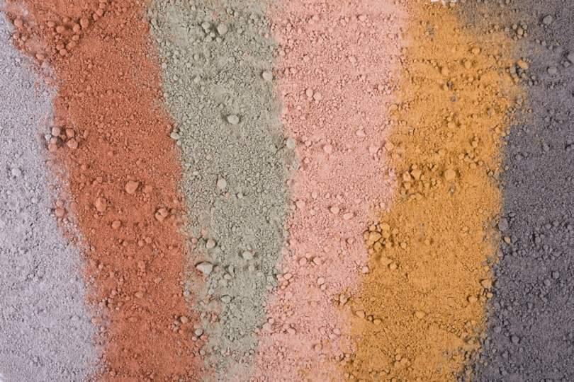 différents coloris d' argile