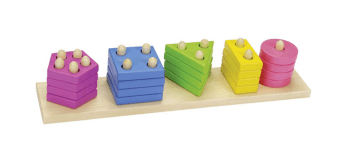 Jeux d'apprentissage : jeu en bois empilable Goki
