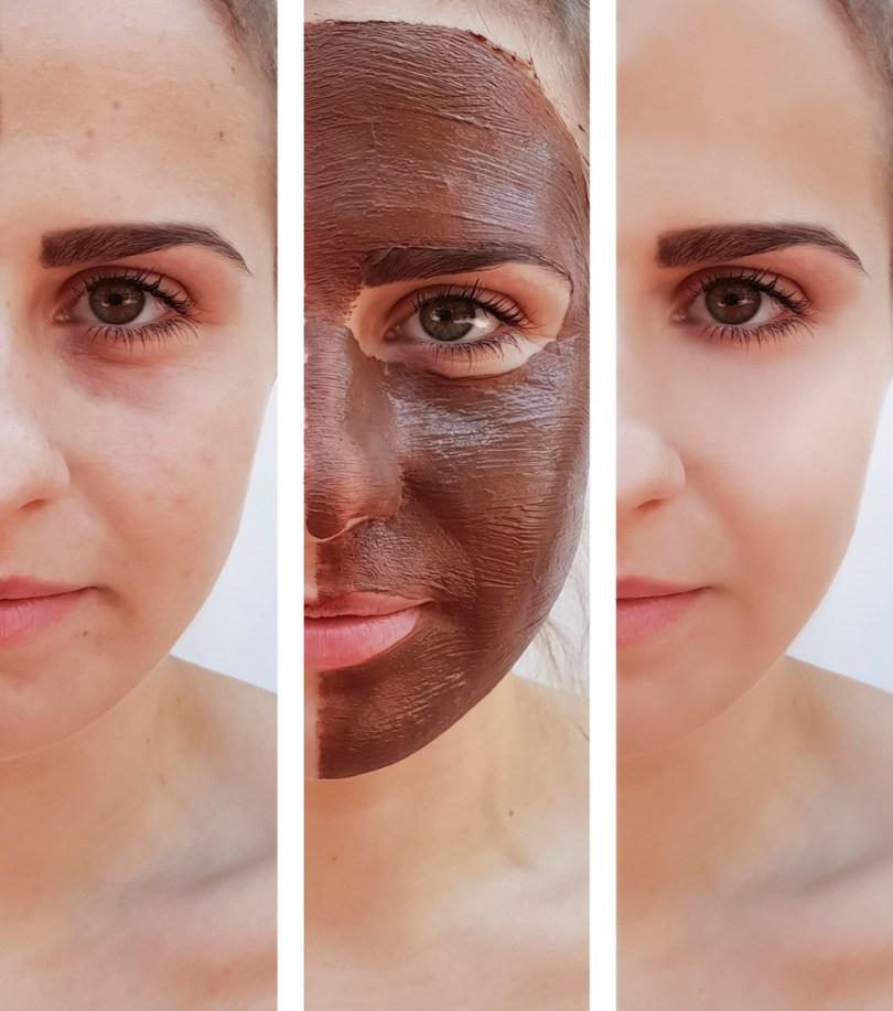 masque cosmétique au chocolat