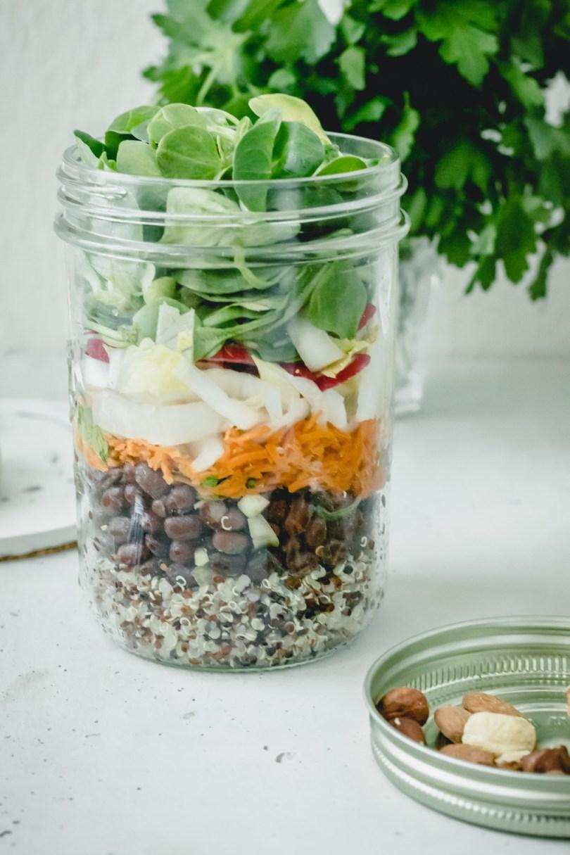 recettes d'hiver : salade lunchbox aux légumes de saison