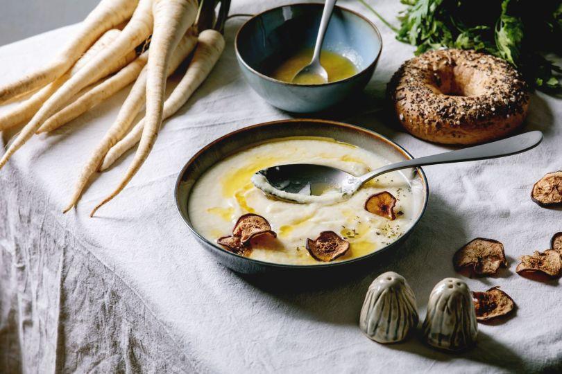 Soupe de panais au menu de noËl végan