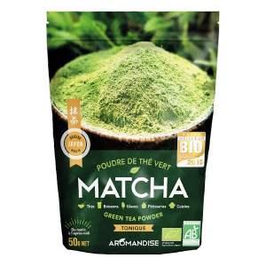 Poudre de thé vert matcha, Aromandise