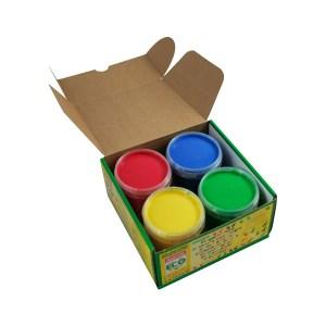 Peinture rouge jaune vert bleu Okonorm