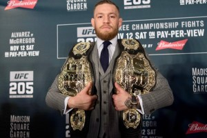 Conor McGregor and Floyd Mayweather Promote Super Fight