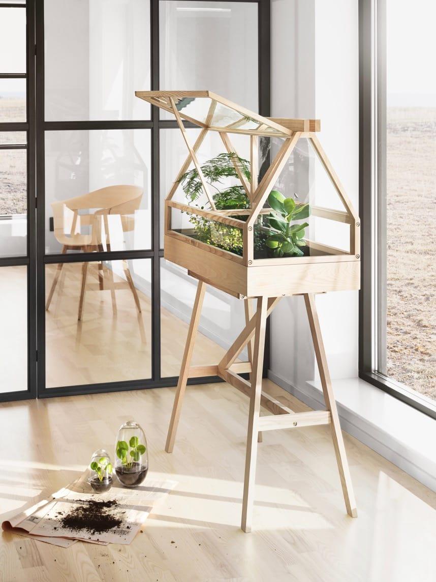 Scandinavian indoor Greenhouse by Atelier
