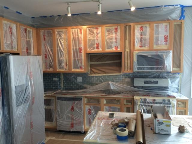 refinishing kitchen cabinets cost quartz countertops cabinet painting chicago - greenworks painting, inc.