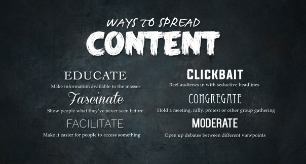 Ways to spread content
