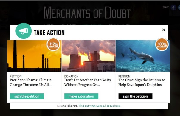 Merchants of Doubt: take action