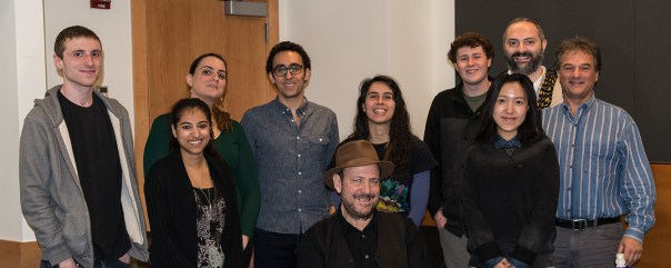 Caleb Savage, Prachi Mehrotra, Reut Elimelech, Alejandro Puentes, Daniela Tenhamm-Tejos, Brendan Hall, Zhi (Yoko) Yang, Andonis Volanakis, Peter Terezakis. Seated: Alan Sonfist, Greenworld, April 6, 2015