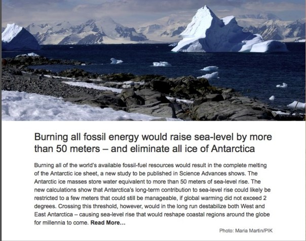 The Eternal Ice of Antartica is on the road of change