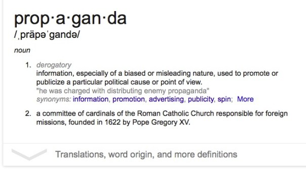 Propaganda: a dictionary definition