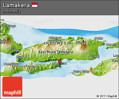A map of Lamakera in Indonesia to give you an idea of where the village is.