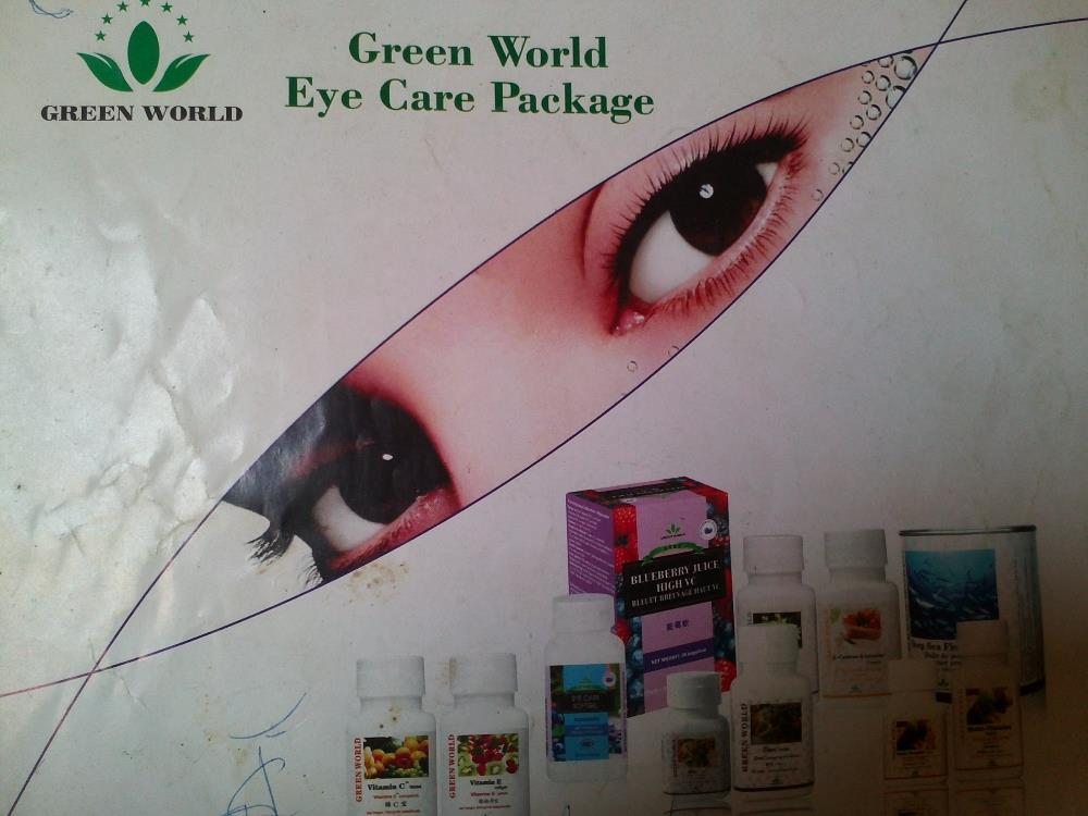 Green World Eye Care Package : Help Eye Strain And Degenerative Eye Diseases