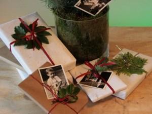Cadeau inpakken met groenaccent