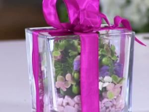 Een cadeautje bloemen