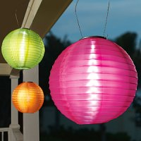 Patio Perfection: Colorful Solar Lanterns