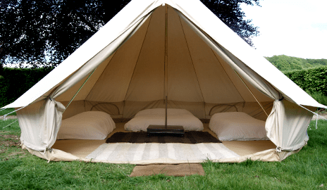 Bell tents for hire with green yurts uk