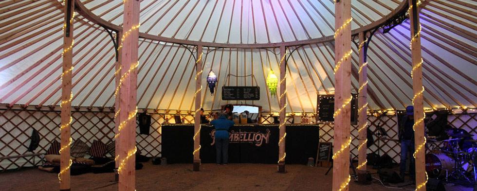 Festival Wedding - bar set up