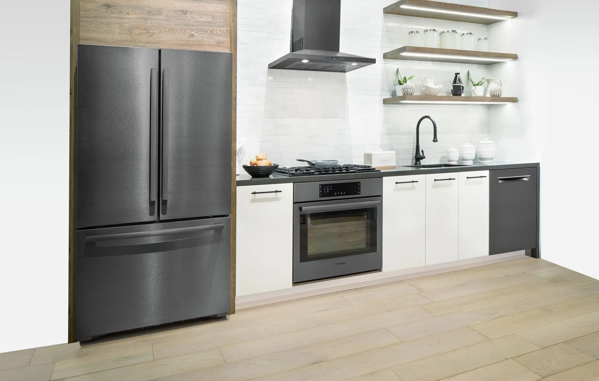 bosch kitchen lowes faucets delta 5 reasons to get a black stainless steel set from home