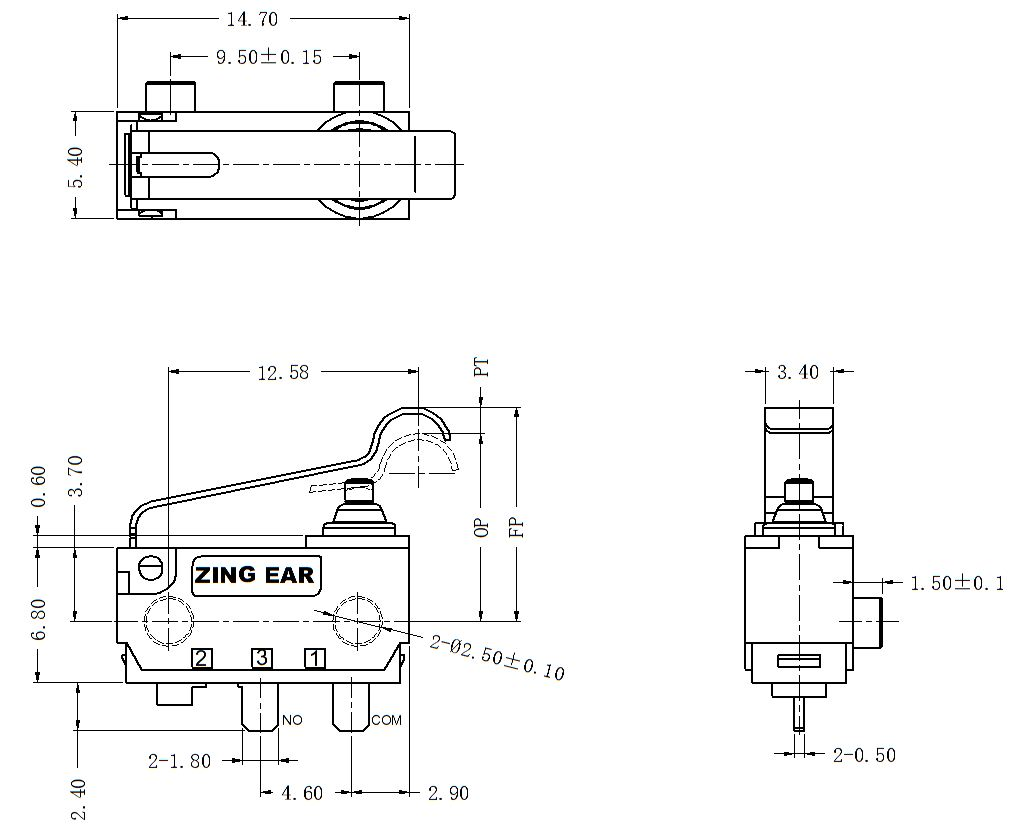 China Customized Waterproof Micro Switches Simulated