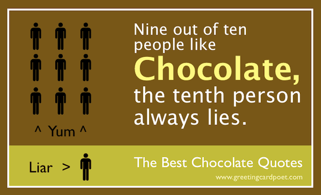 Chocolate Quotes And Sayings Funny Famous & Delicious
