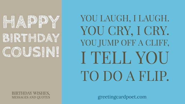 Happy Birthday Wishes For Cousin Greeting Card Poet
