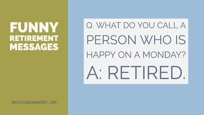 funny retirement messages and