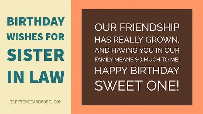Birthday Wishes Sister In Law To Share Greeting Card Poet