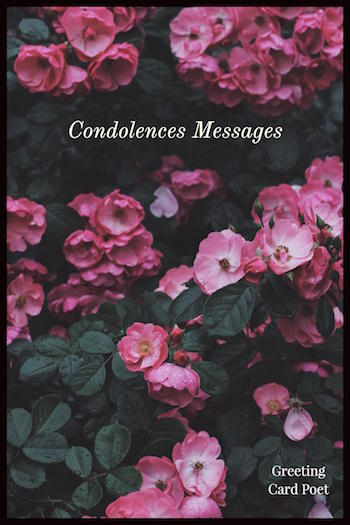 condolence messages and sincere