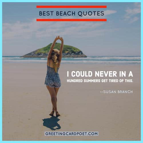 Summer Quotes And Beach Sayings Greeting Card Poet