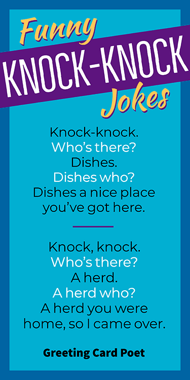 Knock Knock Jokes That Will Get You In The Door Greeting