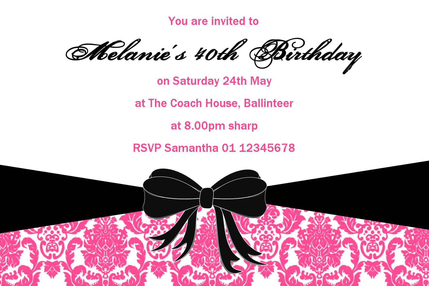 Personalised Birthday Invitation Design 15