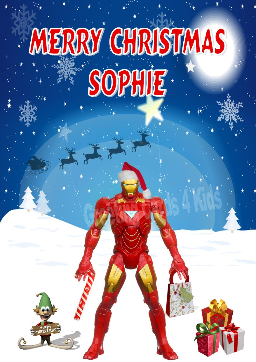 Personalised Iron Man Christmas Card