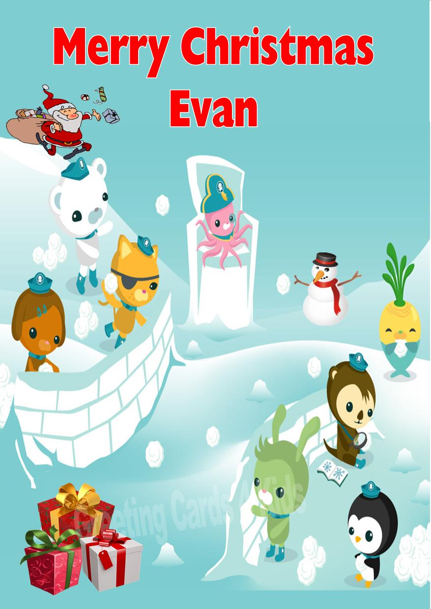 Personalised Octonauts Christmas Card