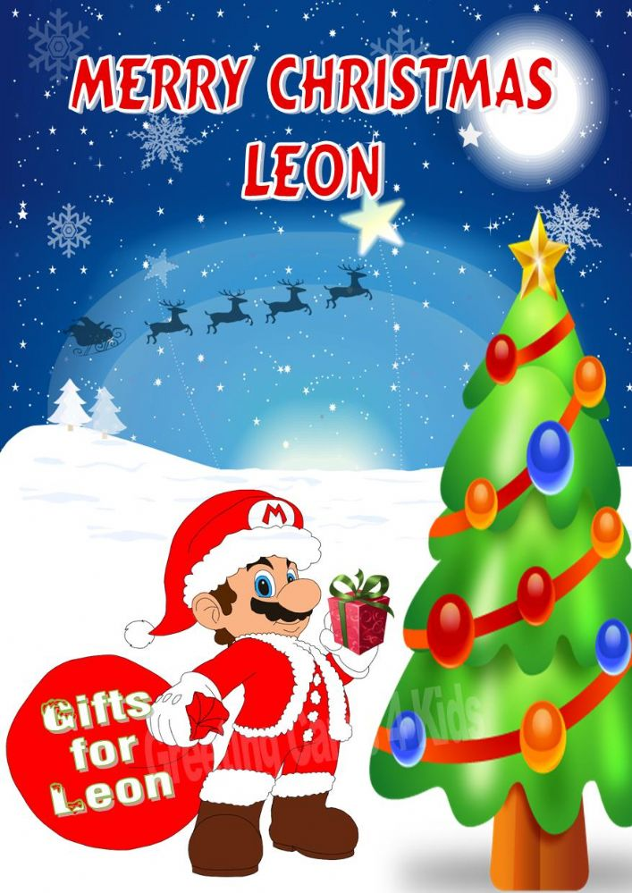 Personalised Super Mario Christmas Card Design1