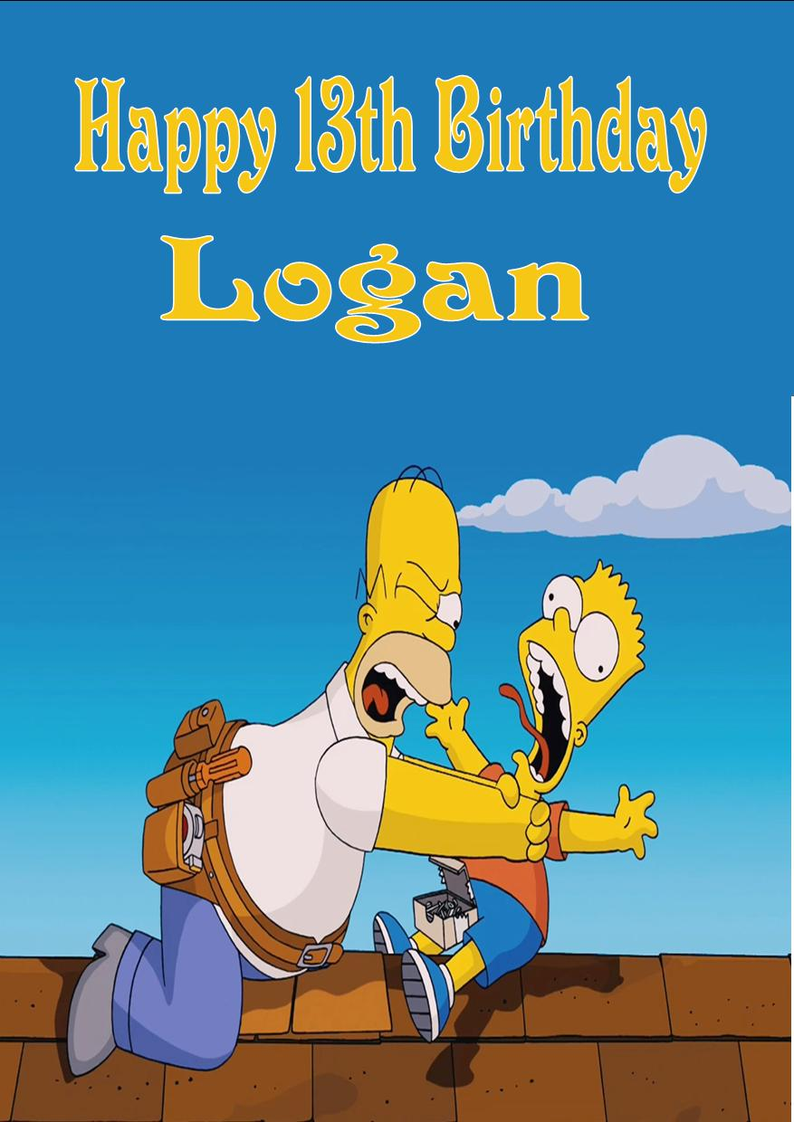 Personalised The Simpsons Birthday Card