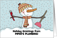 Plumbing Industry Christmas Cards From Greeting Card Universe