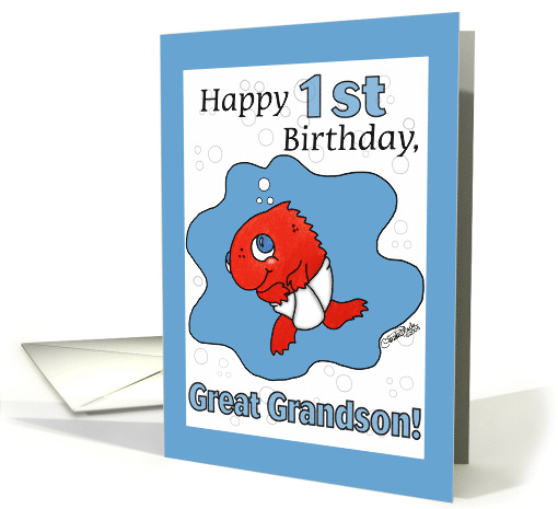 Small Fry 1st Birthday Great Grandson Card 349555