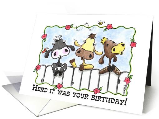 Happy Birthday Three Cows Mooing Card 52506