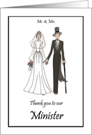 Thank You Minister Priest Rabbi Cards for Wedding Party