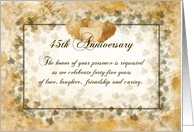 Soft Expressions 45th Wedding Anniversary Party Invitations Paper Greeting Cards
