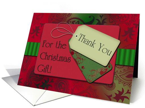 Christmas Gift Thank You Scrapbook Style Thank You Tags