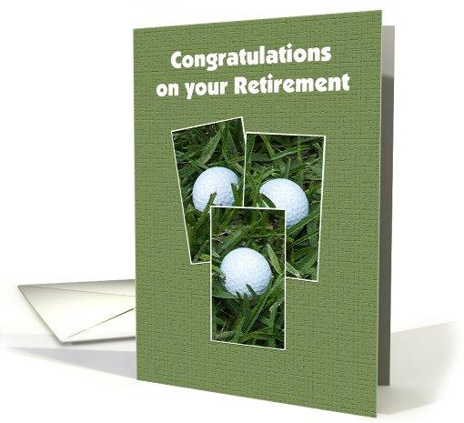 Golf Themed Retirement Card 454336