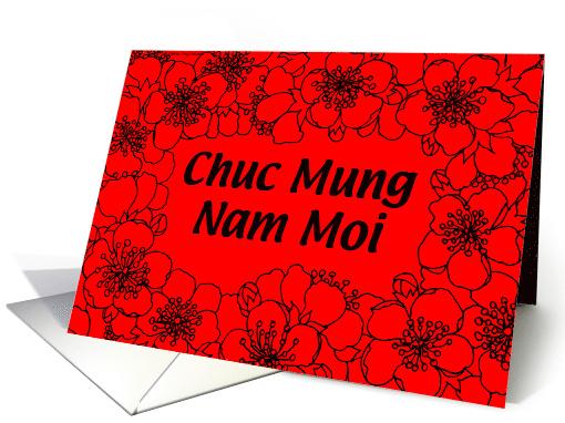 Tet Chuc Mung Nam Moi Red Blossom card 332213