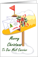 Rural Carrier Christmas Thank You Cards Best Images