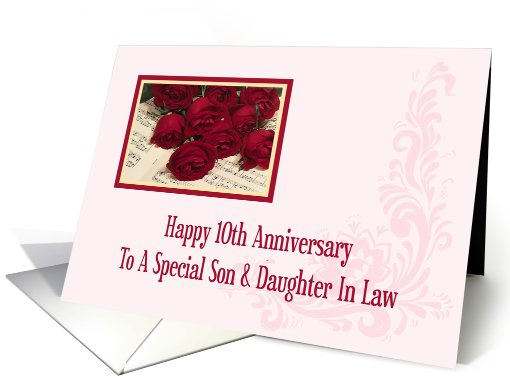 Son And Daughter In Law 10th Anniversary Card 578717