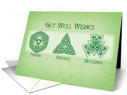 Irish Get Well Wishes Religious Card 1043023