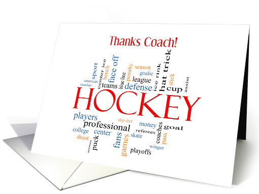 Thanks Hockey Coach From Group Card 1201452