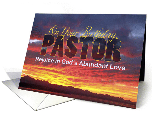 Pastor Birthday Sunset Card 1294056