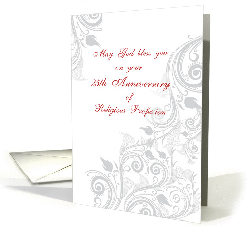 Nun 25th Anniversary of Religious Profession Swirls card